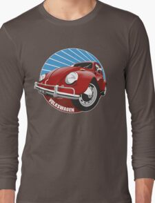 Sixties VW Beetle red Long Sleeve T-Shirt