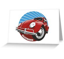 Sixties VW Beetle red Greeting Card