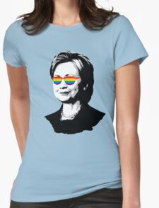 Hillary Rainbow Glasses Womens Fitted T-Shirt
