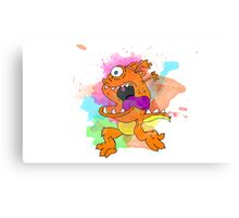 Orange monster! Canvas Print