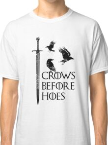 Crows flying on sword Classic T-Shirt