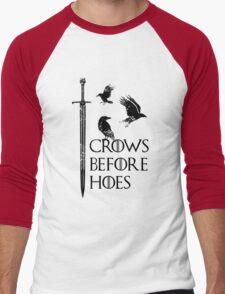 Crows flying on sword Men's Baseball ¾ T-Shirt