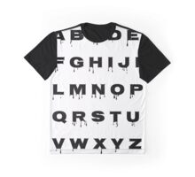 Alphabet - Spooky Graphic T-Shirt