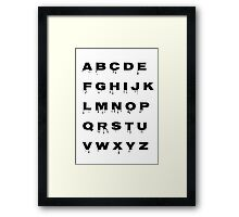 Alphabet - Spooky Framed Print