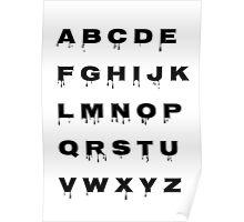 Alphabet - Spooky Poster