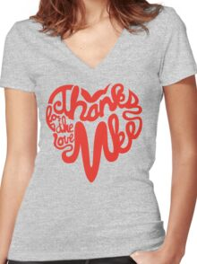 Thanks For The Love, MKE Women's Fitted V-Neck T-Shirt