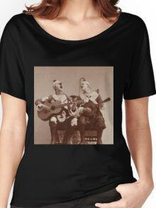 Clown Guitar and Mandolin Women's Relaxed Fit T-Shirt