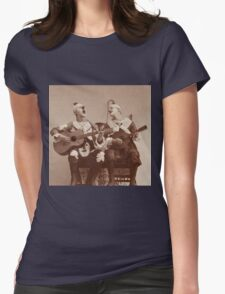 Clown Guitar and Mandolin Womens Fitted T-Shirt