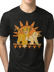Simba and Nala Tri-blend T-Shirt