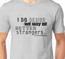 Shakespeare's As You Like It Strangers Insult (Version 2) T-Shirt
