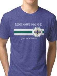 Euro 2016 Football - Northern Ireland (Green) Tri-blend T-Shirt