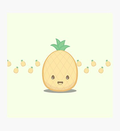 Cute Tropical Fruits - Pineapple Photographic Print