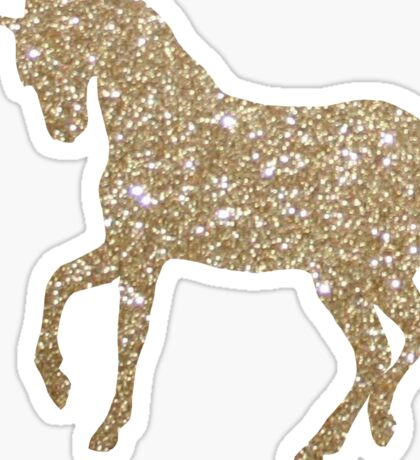 Gold Holo Unicorn Sticker