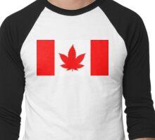 Canada Cannabis Leaf Men's Baseball ¾ T-Shirt