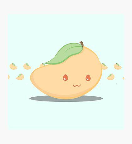 Cute Tropical Fruits - Mango Photographic Print