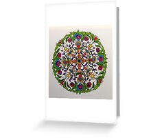 Dorje and Flowers Mandala Greeting Card