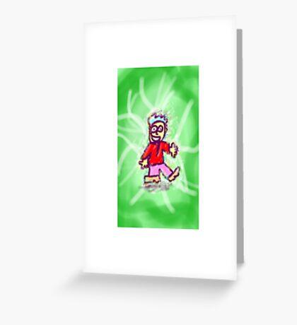 Tesla dude. Greeting Card