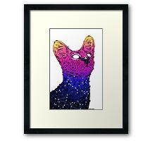 Galaxy Serval Framed Print