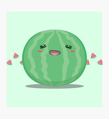 Cute Tropical Fruits - Watermelon Photographic Print