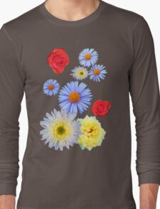 Colorful flowers like living Long Sleeve T-Shirt