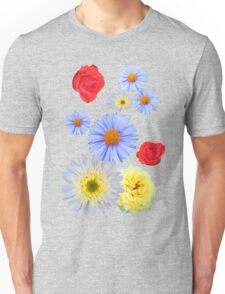 Colorful flowers like living Unisex T-Shirt