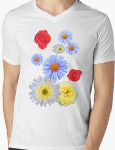 Colorful flowers like living Mens V-Neck T-Shirt