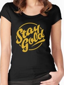 stay gold Women's Fitted Scoop T-Shirt
