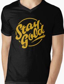 stay gold Mens V-Neck T-Shirt