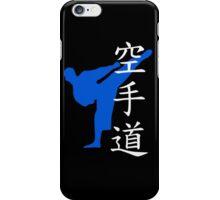 Karate Do Kanji (Blue) iPhone Case/Skin