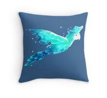 Water Parrot Throw Pillow