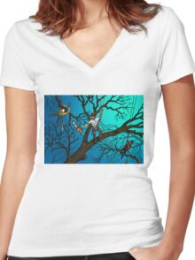 Tree Surgeons Women's Fitted V-Neck T-Shirt