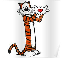 Calvin and Hobbes Love Poster