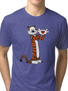 Calvin and Hobbes Love Tri-blend T-Shirt