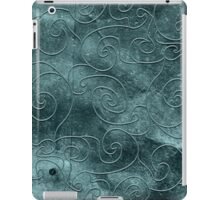 Gray swirls iPad Case/Skin