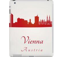 Vienna skyline in red iPad Case/Skin