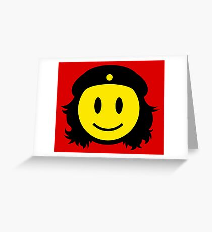 Che Guevara Smiley No.1 Greeting Card