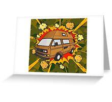 T25 Boom Cartoon Greeting Card