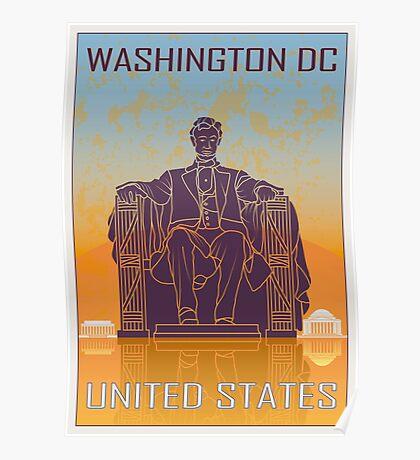Washington DC vintage poster Poster