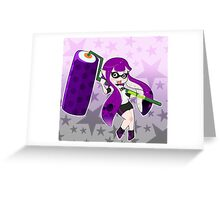 Purple Roller Girl Inkling Greeting Card
