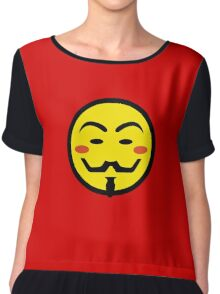Anonymous Vendetta Smiley Chiffon Top