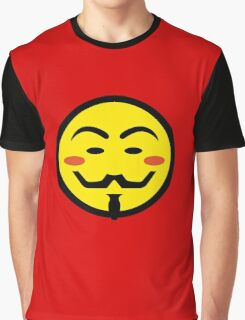 Anonymous Vendetta Smiley Graphic T-Shirt