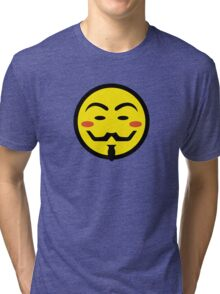 Anonymous Vendetta Smiley Tri-blend T-Shirt