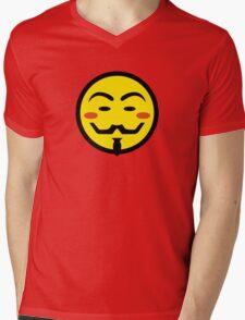 Anonymous Vendetta Smiley Mens V-Neck T-Shirt