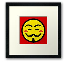 Anonymous Vendetta Smiley Framed Print