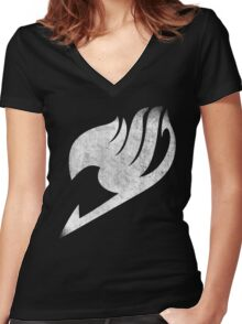°FAIRY TAIL° Fairy Tail Logo  Women's Fitted V-Neck T-Shirt