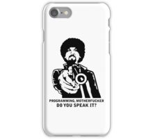 Programming, Motherfucker - Based of Pulp Fiction iPhone Case/Skin