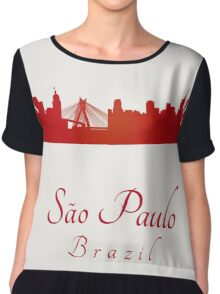 Sao Paulo skyline in red and gray background Chiffon Top
