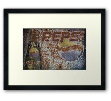 Rustic Pepsi sign Framed Print