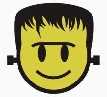 Frankenstein Smiley Kids Tee