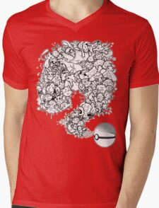 Doodlemon Mens V-Neck T-Shirt